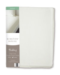 Easy Care Single Fitted Sheet - Cream