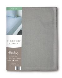 Easy Care Single Fitted Sheet - Dark Grey