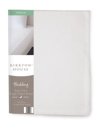 Easy Care Single Fitted Sheet - White