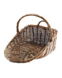 Easy Home Brown Log Basket