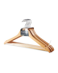 Easy Home Clothes Hangers 6 Pack - Nature