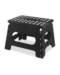Easy Home Folding Step Stool - Black/White