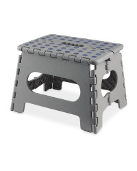 Easy Home Folding Step Stool - Grey/Navy