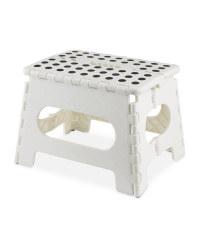 Easy Home Folding Step Stool - White/Black