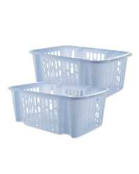 Easy Home Large Basket Set - Soft Blue