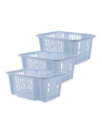 Easy Home Small Basket Set - Soft Blue