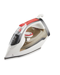 Easy Home Steam Iron - Red/White