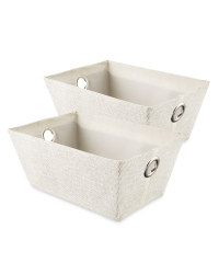 Easy Home Storage Tote 2-Pack - Off White