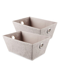 Easy Home Storage Tote 2-Pack - Pale Grey