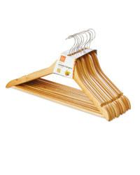 Easy Home Wooden Coat Hangers - Natural