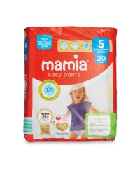Mamia Easy Pants Size 5 20 Pack