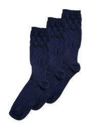 Easytop® Extra Roomy Socks 3 Pack - Navy