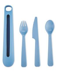 Eco Home Reusable Cutlery Set - Blue