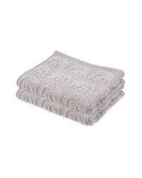 Elephant 2PK Hand Towel
