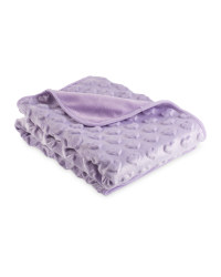 Embossed Hearts Baby Blanket - Purple