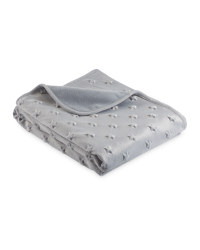 Embossed Stars Baby Blanket - Grey
