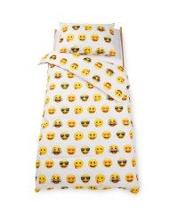 Emoji® Faces Single Duvet Set