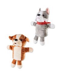 English/French Bulldog Hand Puppets