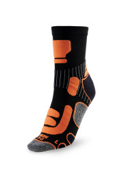 Ergonomic Cycling Socks - Black / Orange