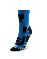 Ergonomic Cycling Socks - Blue / Black