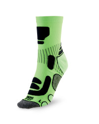 Ergonomic Cycling Socks - Lime / Black