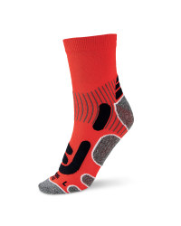 Ergonomic Cycling Socks - Red / Black