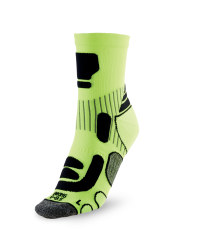 Ergonomic Cycling Socks - Yellow / Black