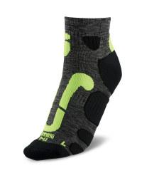 Ergonomic Running Socks - Anthracite Melange/Yellow