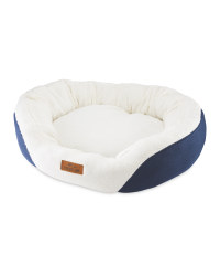 Extra Large Oval Pet Bed - Navy