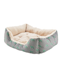 Extra Large Teal Plush Pet Bed