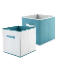 Kirkton House Storage Box 2-Pack - Green/White