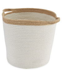Fabric Storage Bucket - Camel
