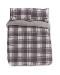 Checkered King Size Fleece Duvet Set