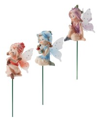 Fairy Plant Pot Sticks 3 Pack