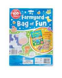 Farm Sticker and Activity Bag