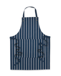 Farmer Striped Apron - Navy