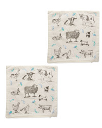 Farmyard Cushion Covers 2-Pack