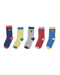 Lily & Dan Fast Food Socks 5-Pack