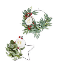 Faux Christmas Foliage Wreath 2 Pack