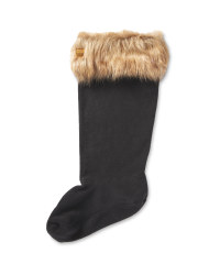 Crane Faux Fur Adults Welly Socks