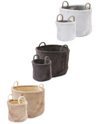Faux Fur Baskets 2 Pack