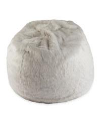 Faux Fur Bean Bag - Light Grey