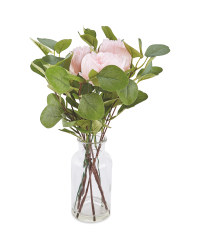 Faux Eucalyptus/Peony Mix In Vase