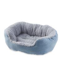 Faux Suede Grey Pet Bed