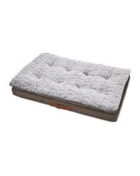 Faux Suede Memory Foam Pet Bed