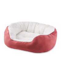 Faux Suede Pink Pet Bed
