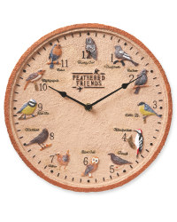 Feathered Friends Outdoor Wall Clock