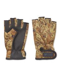 Fingerless Camo Fishing Gloves