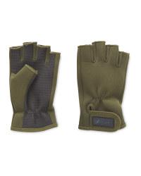 Fingerless Green Fishing Gloves