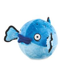 Fish Plush Football Dog Toy